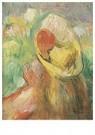 Auguste Renoir (1841-1919)  -  Petite Fille Au Chapeau Jaune - Postkaart -  A19191-1