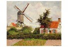 Camille Pissarro (1830-1903)  -  Windmill At Knocke, Belgium, 1894 - Postkaart -  A19434-1