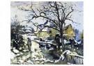 Camille Pissarro (1830-1903)  -  Winter At Montfoucault I, 1875 - Postkaart -  A19443-1