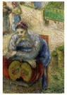 Camille Pissarro (1830-1903)  -  Pumpkin Merchant, 1883 - Postkaart -  A19957-1