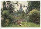 Camille Pissarro (1830-1903)  -  The Pontoise Bridge 1891 - Postkaart -  A19963-1