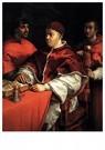 Rafaël Sanzio (1483-1520)  -  Pope Leo X With Cardinals Giulio De' Medici And Luigi De' Ro - Postkaart -  A19970-1