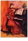 Auguste Renoir (1841-1919)  -  The Piano Lesson - Postkaart -  A20020-1