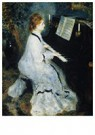 Auguste Renoir (1841-1919)  -  Young Woman At The Piano - Postkaart -  A20046-1