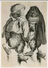 Abraham Bloemaert (1564-1651)  -  Twee uilen op schaats - Postkaart -  A2014-1