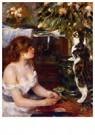 Auguste Renoir (1841-1919)  -  Girl And Cat - Postkaart -  A20194-1