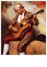 Auguste Renoir (1841-1919)  -  The Spanish Guitarist - Postkaart -  A20236-1