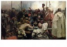 Ilya Repin (1844-1930)  -  Reply Of The Zaporozhian Cossacks To Sultan Mehmed,1878-1891 - Postkaart -  A20829-1