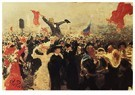 Ilya Repin (1844-1930)  -  Demonstration On October 17, 1905 2 - Postkaart -  A20852-1