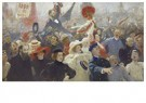 Ilya Repin (1844-1930)  -  Demonstration On October 17, 1905 - Postkaart -  A20873-1