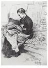 Ilya Repin (1844-1930)  -  Seamstress,1882 - Postkaart -  A21027-1