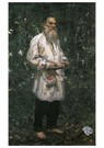 Ilya Repin (1844-1930)  -  Leo Tolstoy Barefoot,1991 - Postkaart -  A21047-1