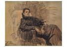 Ilya Repin (1844-1930)  -  Portrait Of Actress Eleonora Duse,1991 - Postkaart -  A21049-1