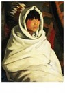 Robert Henri(1865-1929)  -  Indian Girl In White Ceremonial Blanket - Postkaart -  A21097-1