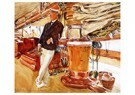John Singer Sargent(1856-1925) -  On The Deck Of The Yacht Constellation - Postkaart -  A21300-1