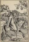 Lucas Cranach (1472-1553)  -  Een Saksische prins te paard, A Saxon Prince on Ho - Postkaart -  A2187-1
