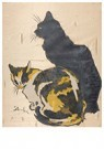 Théophile Steinlen(1859-1923)  -  Les Deux Chats - Postkaart -  A22189-1