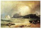 William Turner(1775-1851)  -  Pembroke Caselt, South Wales: Thunder Storm Approaching - Postkaart -  A22340-1