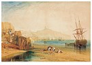 William Turner(1775-1851)  -  Scarborough Town And Castle: Morning: Boys Catching Crabs - Postkaart -  A22469-1