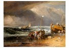 William Turner(1775-1851)  -  Fishmarket On The Beach - Postkaart -  A22537-1