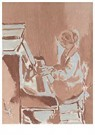 Walter Sickert(1860-1942)  -  Girl Playing A Piano - Postkaart -  A22738-1