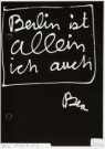 Ben Vautier (1935)  -  Ben Vautier/ allein/BerKul/zw - Postkaart -  A2334-1