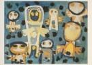 Karel Appel (1921-2006)  -  Appel/Vragende kinderen/Br/Krh - Postkaart -  A2382-1