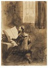 Eugène Delacroix (1798-1863)  -  A Scholar Studying - Postkaart -  A24206-1