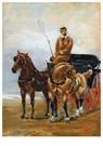 Henri de Toulouse-Lautrec  -  Meneer (Man in een kar getrokken door een paar paard op zee - Postkaart -  A24426-1