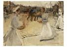 Isaac Israels (1865-1934)  -  Dienstmeisjes Op Het Muntplein, Amsterdam - Postkaart -  A24517-1