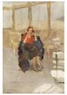 Isaac Israels (1865-1934)  -  Een Elegante Vrouw, Zittend Op De Pier Het Wandelhoofd Konin - Postkaart -  A24594-1