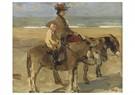 Isaac Israels (1865-1934)  -  Ezelrit Op Het Strand, Scheveningen - Postkaart -  A24608-1
