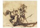 Théodore Géricault(1791-1824)  -  A Mameluke Retrieving His Lance - Postkaart -  A24858-1
