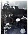 Laszlo Moholy-Nagy (1895-1946) -  Op een Finse Trawler, twee beelden over elkaar heen - Postkaart -  A24990-1