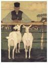 Jan Mankes(1889-1920)  -  Boer met geitjes, 1914 - Postkaart -  A25280-1
