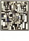 Theo van Doesburg (1883-1931)  -  Compositie IX, abstracte doorbeelding 'De Kaartspe - Postkaart -  A2575-1