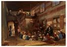 Konstantin Makovsky (1839-1915 -  School in Cairo - Postkaart -  A25996-1
