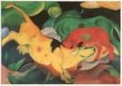 Franz Marc (1880-1916)  -  Kühe, gelb-rot-grün / Koeien, geel-rood-groen, 1912 - Postkaart -  A2606-1
