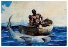 Winslow Homer (1836-1910)  -  Shark Fishing, 1885 - Postkaart -  A26335-1