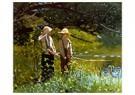 Winslow Homer (1836-1910)  -  Fishing, 1878 - Postkaart -  A26619-1