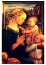 Fra filippo Lippi (1406-1469)  -  Virgin with Children, - Postkaart -  A27960-1