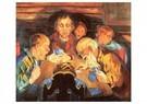 Aksel Waldemar Johannessen (18 -  Card Players, 1918 - Postkaart -  A28398-1