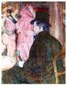 H.d.Toulouse-Lautrec(1864-1901 -  Maxime de Thomas bij de Operabal, 1896 - Postkaart -  A28428-1