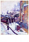 Maximilien Luce(1858-1941)  -  Montmartre, Snow Covered Street, 1897 - Postkaart -  A28979-1