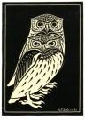 Julie de Graag (1877-1924)  -  Twee uilen, 1921 - Postkaart -  A2990-1