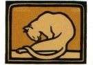 Julie de Graag (1877-1924) - Likkende kat, 1918 - Postkaart - A2992-1