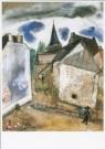 Marc Chagall (1887-1985)  -  De kerk te Chambon, L'eglise a Chambon, ca. 1922 - Postkaart -  A3067-1