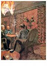 Edouard Vuillard (1868-1940)  -  The Game of Bridge - The Salon at the Clos Cêzanne, 1923 - Postkaart -  A30806-1