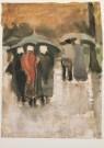 Vincent van Gogh (1853-1890)  -  In de regen - Postkaart -  A3128-1