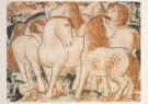 Leo Gestel (1881-1941)  -  Paardengroep - Postkaart -  A3228-1